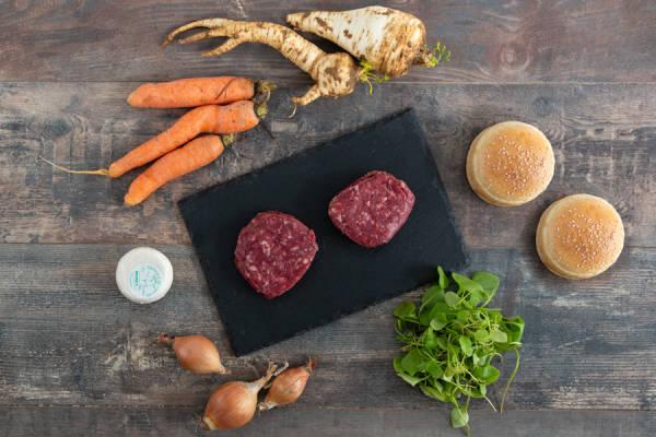 meal kit photo Kit burger au chèvre et cornet de légumes 0 - La Ruche qui dit Oui ! à la maison
