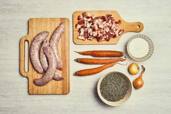 meal kit photo Kit saucisses aux lentilles (ou l'inverse) 1 - La Ruche qui dit Oui ! à la maison