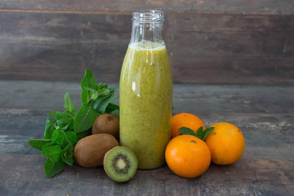 meal kit photo Kit smoothie kiwi orange menthe en KIT 0 - La Ruche qui dit Oui ! à la maison