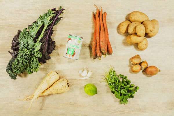 meal kit photo Curry veggie à la mode d'ici 1 - La Ruche qui dit Oui ! à la maison