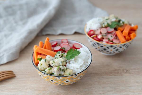 meal kit photo Poke bowl de julienne (le poisson pas votre cousine) 1 - La Ruche qui dit Oui ! à la maison