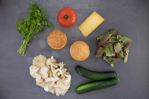 meal kit photo Kit burger veggie à la tomme de brie 0 - La Ruche qui dit Oui ! à la maison