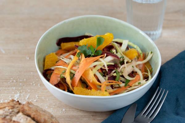 meal kit photo Salade enrubannée à l'orange 1 - La Ruche qui dit Oui ! à la maison
