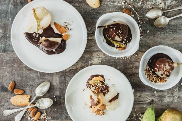 meal kit photo Kit poires Belle Hélène archi-chocolatées 0 - La Ruche qui dit Oui ! à la maison