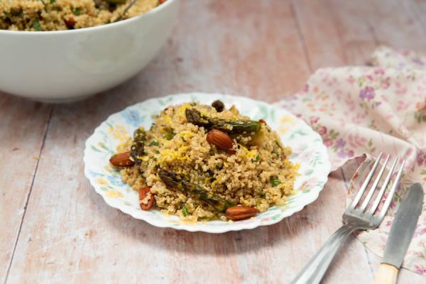 meal kit photo Salade de quinoa aux asperges vertes 1 - La Ruche qui dit Oui ! à la maison