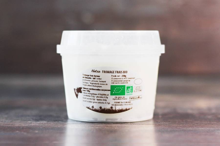 Fromage frais en faisselle BIO - La Fromentellerie - La Ruche qui dit Oui ! à la maison