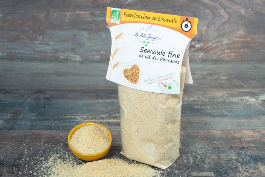Semoule fine de blé des pharaons BIO 400g - La patte Jeanjean - La Ruche qui dit Oui ! à la maison