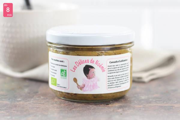 Petit épeautre au brocoli et veau au curry BIO - Les Délices de Noémie