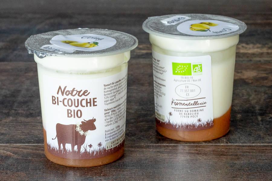 Yaourt bi-couche coing  BIO - La Fromentellerie - La Ruche qui dit Oui ! à la maison