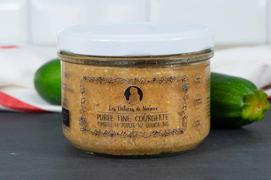 Purée fine courgette tomates et poulet au quinoa BIO - Les Délices de Noémie - La Ruche qui dit Oui ! à la maison