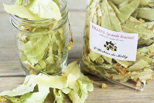 Tisane tilleul - L'Herbier de Milly - Le Comptoir Local