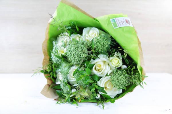 Bouquet émotion blanc BIO - Fleurs de Cocagne