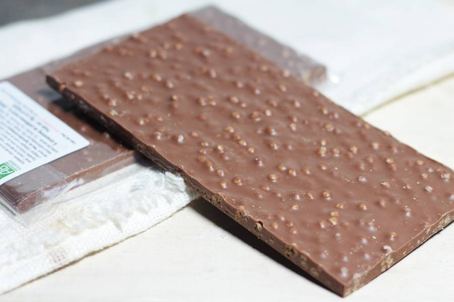 Chocolat Lait Croustillant BIO - Coeur de Choc - La Ruche qui dit Oui ! à la maison