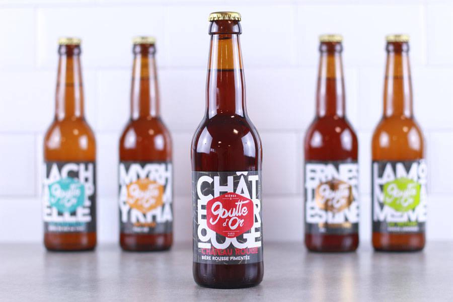 Bière Rousse Pimentée Château Rouge - Brasserie de la Goutte d'Or - La Ruche qui dit Oui ! à la maison