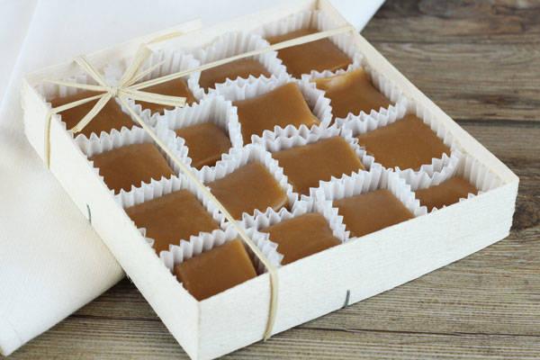 Caramels nature boite de 16 - Les Nicettes