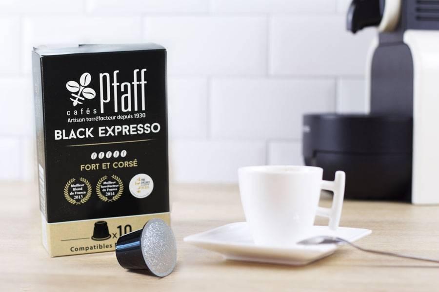 Black expresso - capsules  - Cafés Pfaff - La Ruche qui dit Oui ! à la maison
