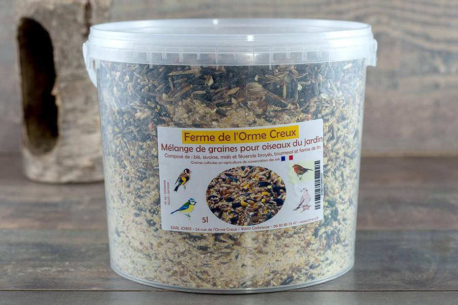 Graines pour oiseaux du jardin - Huilerie de l'Orme Creux - La Ruche qui dit Oui ! à la maison