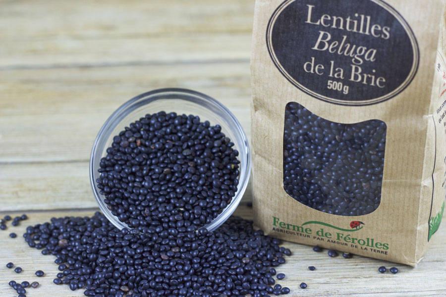Lentilles beluga de la Brie - Ferme de Férolles - La Ruche qui dit Oui ! à la maison