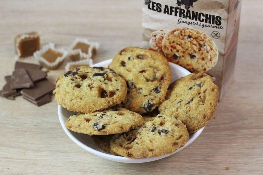 Cookies sans gluten chocolat noir et éclats de caramel d'Isigny - Les Affranchis - La Ruche qui dit Oui ! à la maison