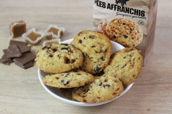 Cookies sans gluten chocolat noir et éclats de caramel d'Isigny - Les Affranchis