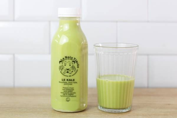 Boisson végétale Bio kale & pomme - La Noix Tigrée
