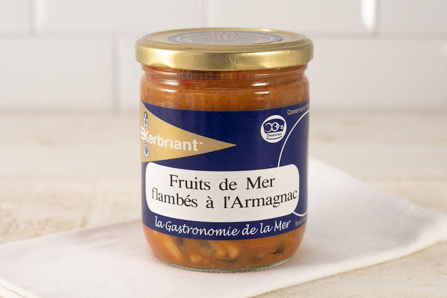 Fruits de mer flambés à l'Armagnac - Conserverie artisanale Kerbriant - La Ruche qui dit Oui ! à la maison