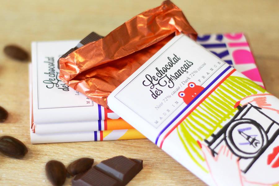 Chocolat noir 71% - Tour Eiffel coeur BIO - Le Chocolat des Français - La Ruche qui dit Oui ! à la maison