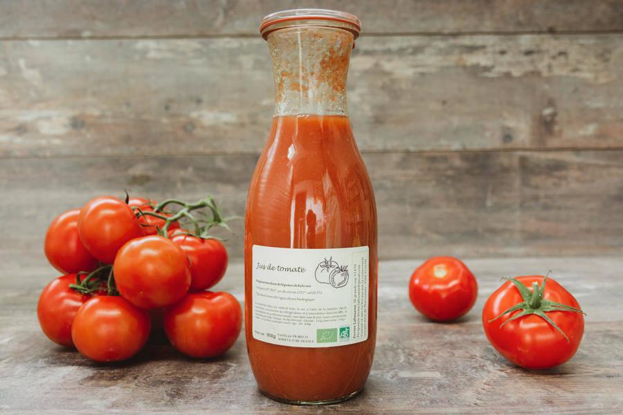 Jus de Tomate BIO - Ferme Lafouasse - La Ruche qui dit Oui ! à la maison