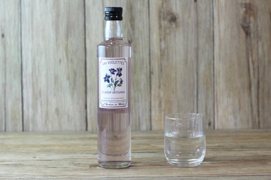 Sirop artisanal à la violette - L'Herbier de Milly - La Ruche qui dit Oui ! à la maison