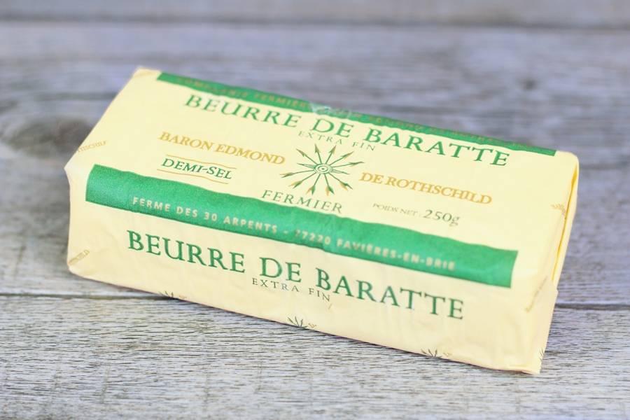 Beurre de baratte demi-sel - Domaine des 30 Arpents - La Ruche qui dit Oui ! à la maison