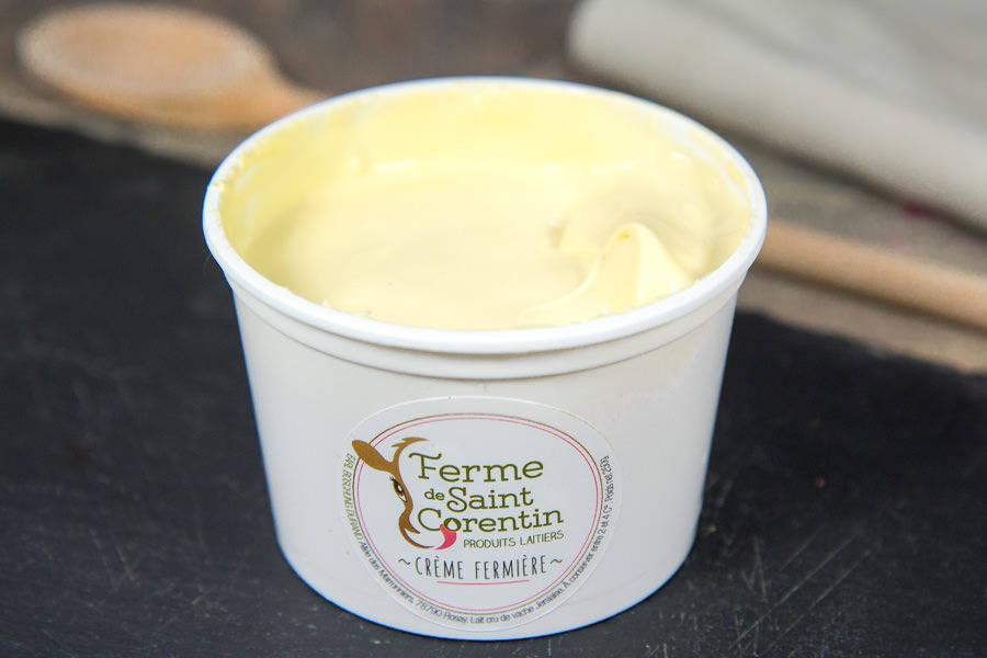 Crème fermière crue - Ferme de Saint Corentin - La Ruche qui dit Oui ! à la maison