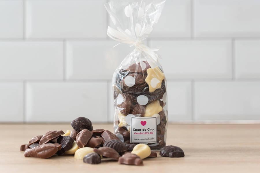 Fritures de Chocolat BIO - Coeur de Choc - La Ruche qui dit Oui ! à la maison