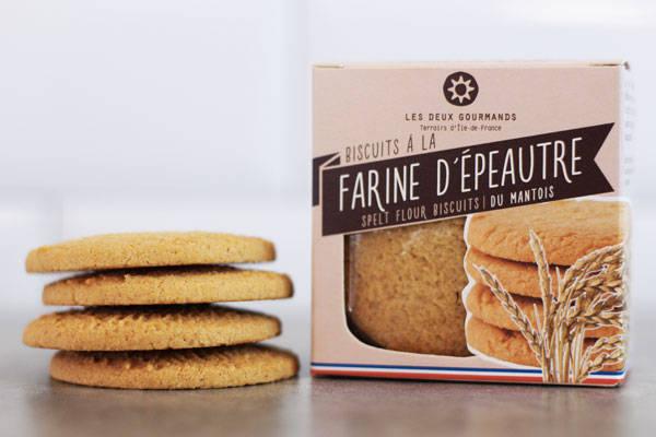 Biscuits à la farine d'épeautre du Mantois 44g - Les Deux Gourmands