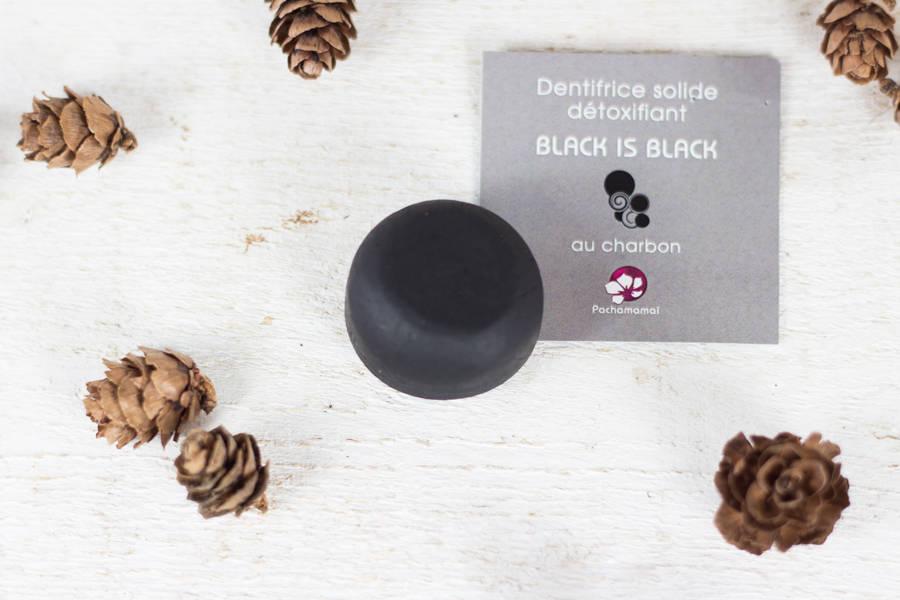 Dentifrice Black is black recharge - boite - Pachamamaï - La Ruche qui dit Oui ! à la maison