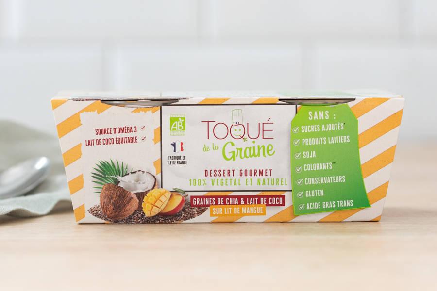 Dessert onctueux 100% végétal MANGUE BIO x2 - Toqué de la Graine - La Ruche qui dit Oui ! à la maison