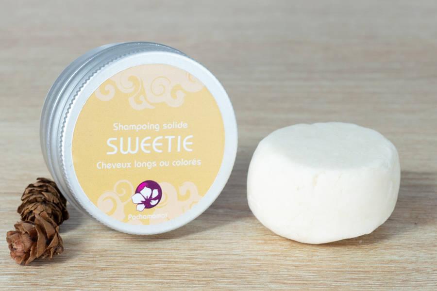 Sweetie - Shampoing démêlant solide format voyage - Pachamamaï - La Ruche qui dit Oui ! à la maison
