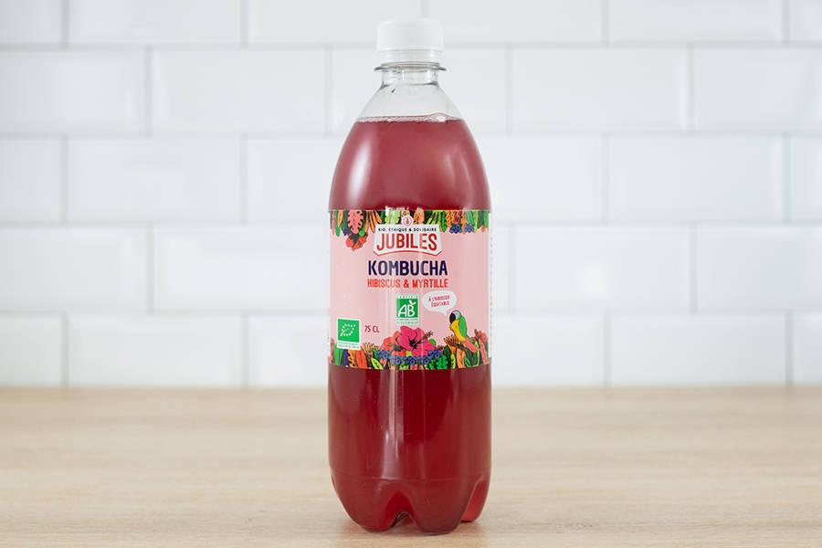 Kombucha thé vert hibiscus myrtille BIO - 75cl - Jubiles - La Ruche qui dit Oui ! à la maison