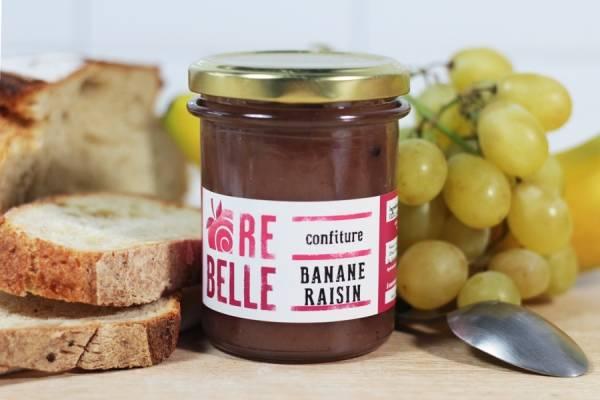 Confiture Banane Raisin - Re-Belle