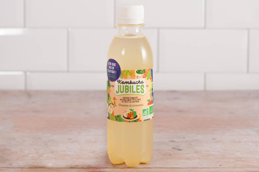 Kombucha thé vert pomme curcuma - 25cl - Jubiles - La Ruche qui dit Oui ! à la maison