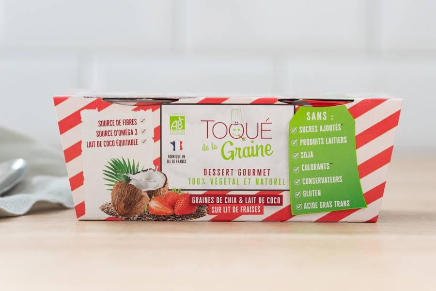 Dessert onctueux 100% végétal FRAISE BIO x2 - Toqué de la Graine - La Ruche qui dit Oui ! à la maison