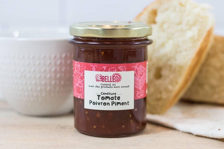 Confiture Tomate Poivron Piment d'espelette - Re-Belle - La Ruche qui dit Oui ! à la maison