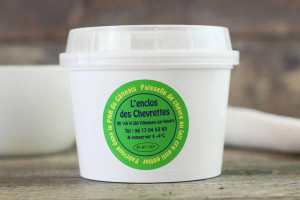 Faisselle au lait de chèvre - L'enclos des chevrettes