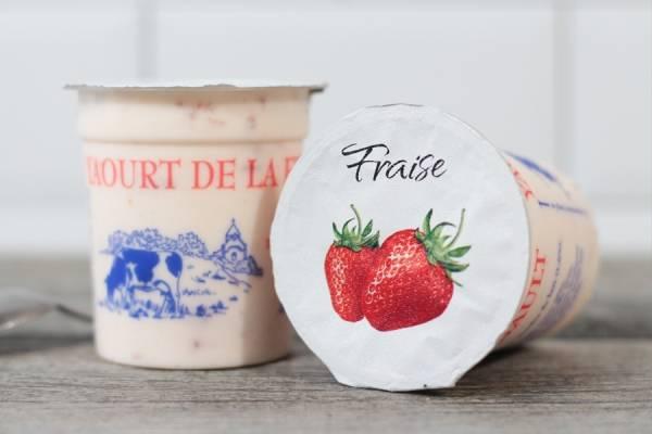 Yaourt à la fraise - Ferme de Saint-Thibault des Vignes