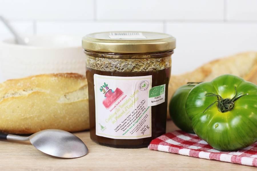Confiture de tomates vertes au piment d'espelette BIO - Conserverie coopérative de Marcoussis - La Ruche qui dit Oui ! à la maison
