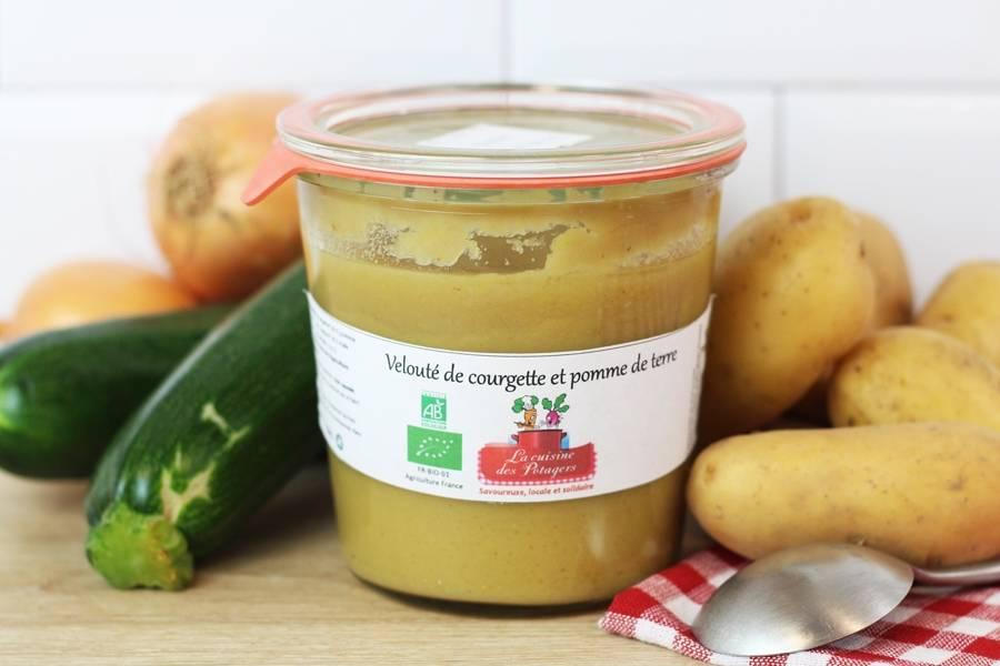 Velouté de courgette et pomme de terre BIO - Conserverie coopérative de Marcoussis - La Ruche qui dit Oui ! à la maison