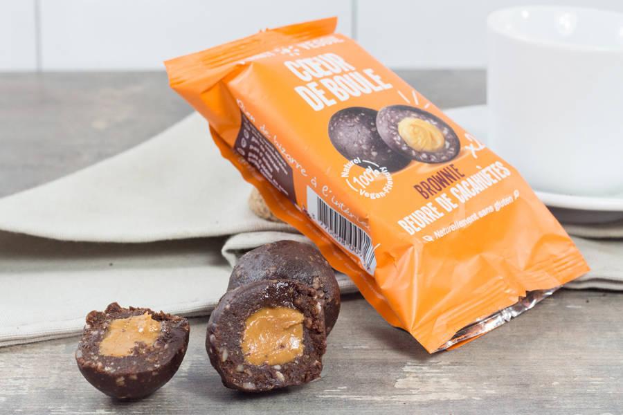 Le Coeur de Boule Brownie Beurre de Cacahuètes - Funky Veggie - La Ruche qui dit Oui ! à la maison