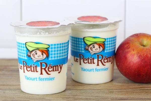 Yaourt fermier à la pomme - Ferme du petit Rémy