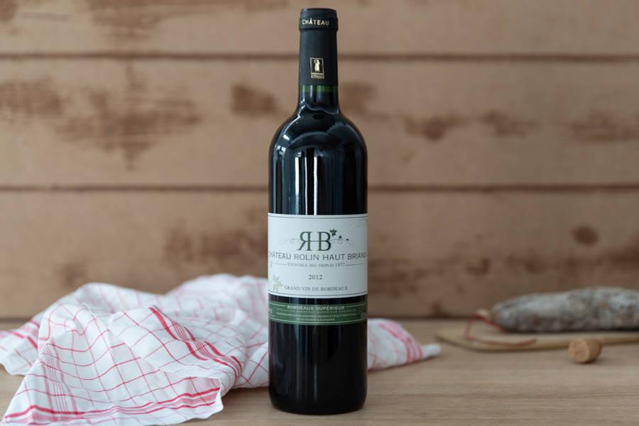 Bordeaux Supérieur 2018 BIO - AOP - Château Rolin Haut Briand - La Ruche qui dit Oui ! à la maison