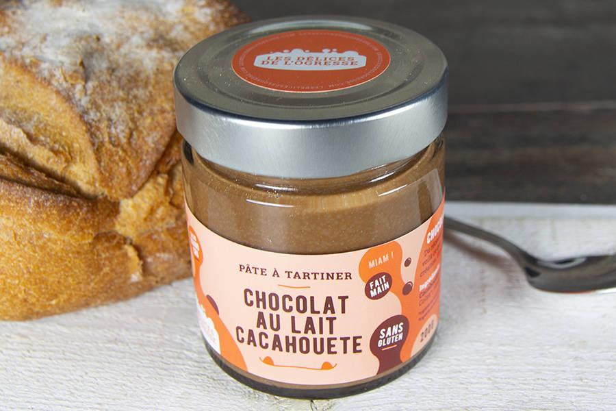 Pâte à tartiner Chocolat au lait - Cacahuète BIO - Les Délices de l'Ogresse - La Ruche qui dit Oui ! à la maison