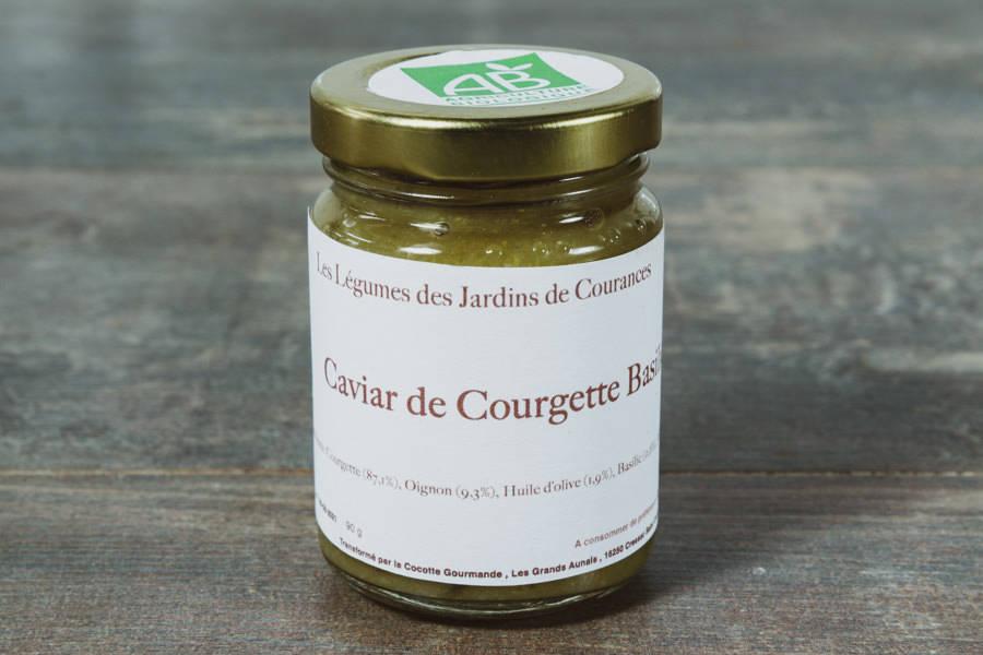 Caviar de Courgette Basilic BIO - Les jardins de Courances - La Ruche qui dit Oui ! à la maison